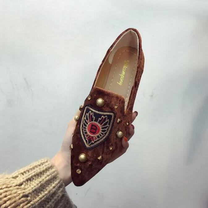 Kadın Hafif İş Güvenliği Barbie Düz Ayakkabı Moda Günlük Süet Loafer Ayakkabı Lady Açık Ayakkabı Kayma-on Nokta Burun Tasarımcı