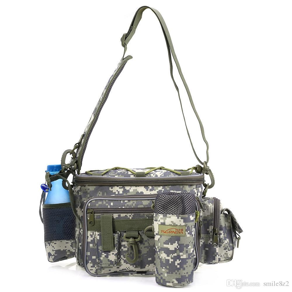 Trulinoya Multifunction Fishing Bags Bolsa Pesca Outdoor Fishing Waist Pack Lure Bag Shoulder Fishing Tackle Bag Fish Tools Free Shipping