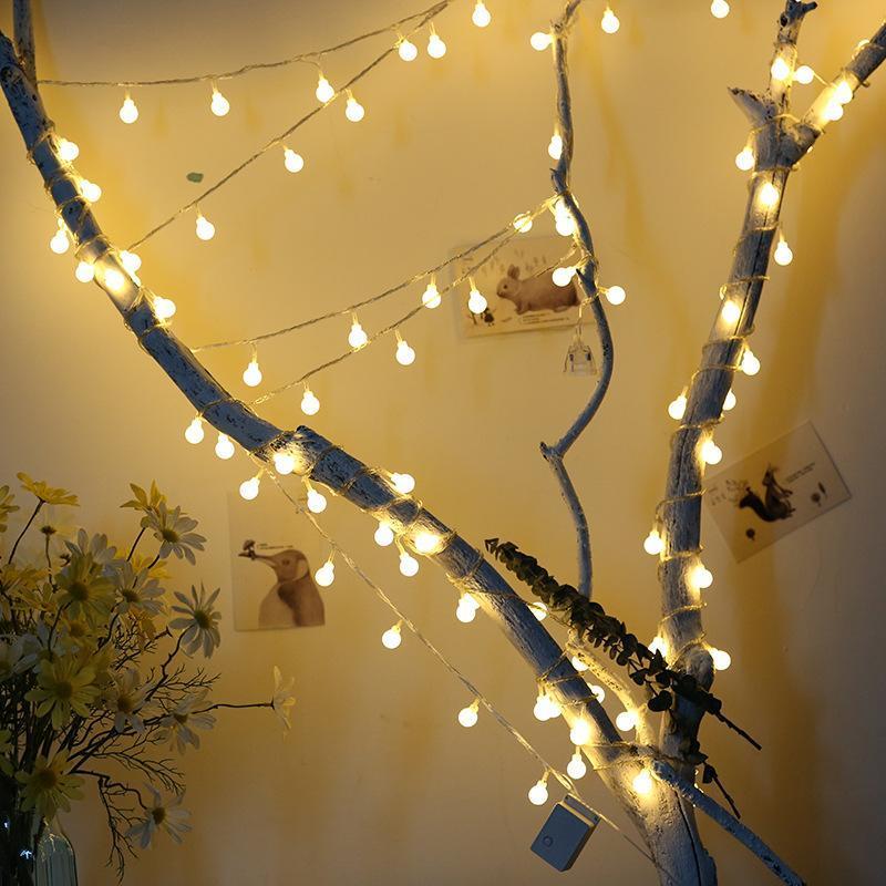 100 개 공 여러 가지 빛깔의 크리스마스 LED 문자열 조명 야외 웨딩 파티 휴일 장식 조명