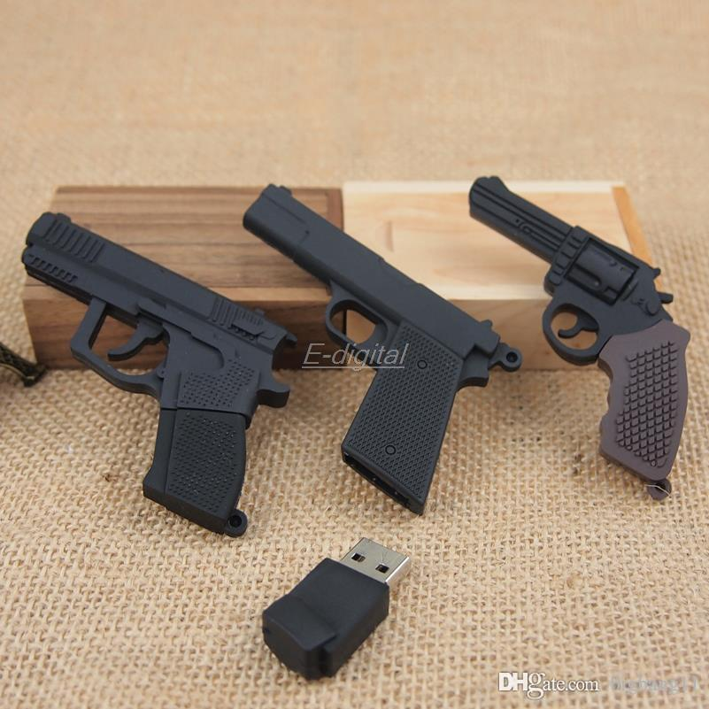 plástico legal AK47 Gun Forma metralhadora 4GB roscoe 64GB 8G 16G 32G usb 2.0 drive de memória flash creativo Stick / Disk