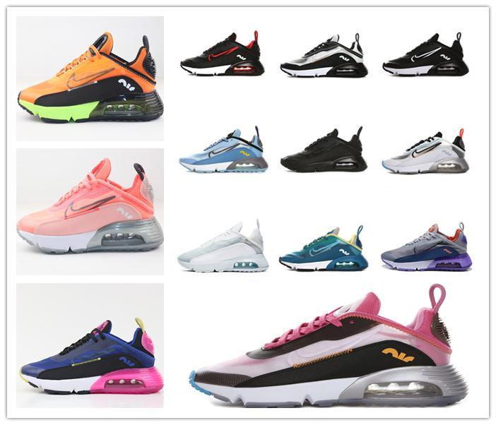2020 Moda Erkek Eğitmenler Lüks 2090 OG Kadınlar Koşu Ayakkabı Üçlü Beyaz Siyah Tasarımcı Koşu Yürüyüş Sporları Spor ayakkabılar Rüzgârı Boyutu 36-45