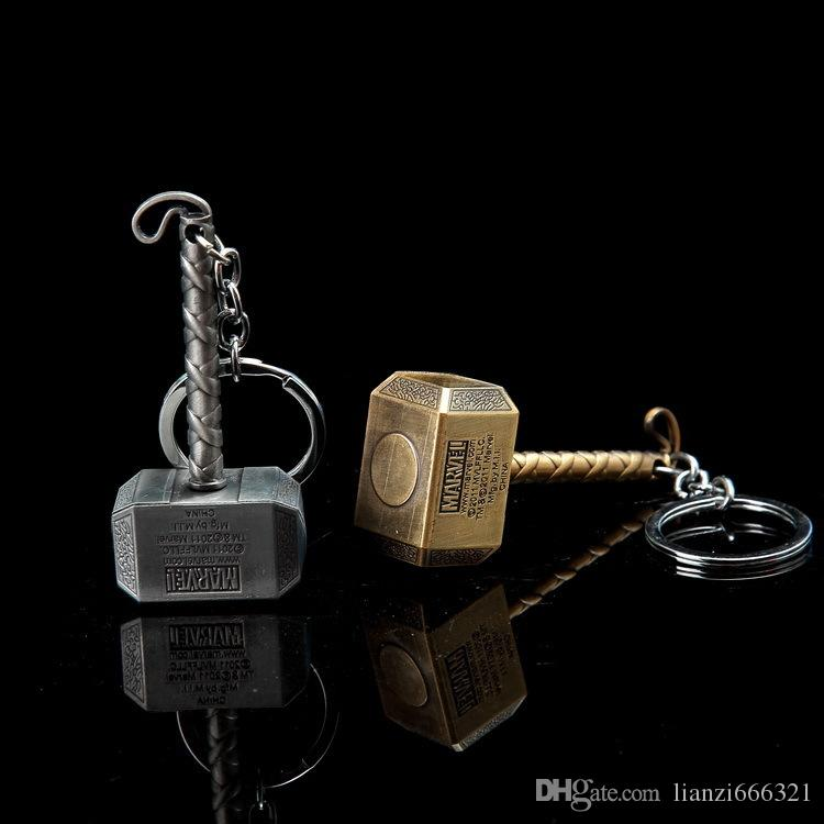 The Avengers Captain America Keychain Thor Hammer KeyChain Ring Key ring Fashion Accessories party gift HJ251
