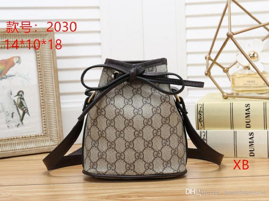 2019 women's Fashion Bucket Bag High Quality Genuine Leather Shoulder Bag Classic Design Crossbody Bags Lady Handbags more colors #56598