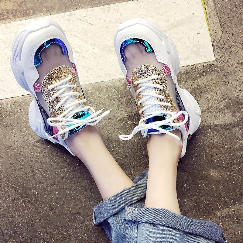 sandales chaussures femmes lacées plate-forme de plate-forme sandales à semelle épaisse en plein air de sport respirant mesh chaussures femmes plage