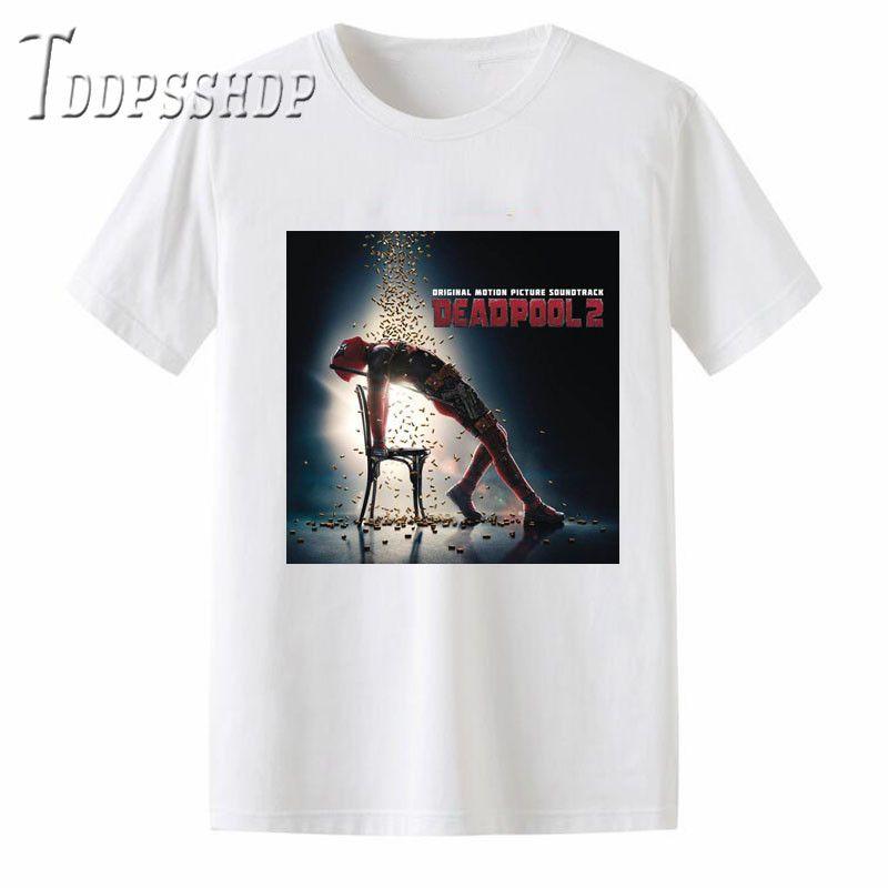 Deadpool 2 모달 티셔츠 남자 의류 여름 새로운 패션 남자 짧은 소매 티셔츠 고품질 Mens Tops Tee