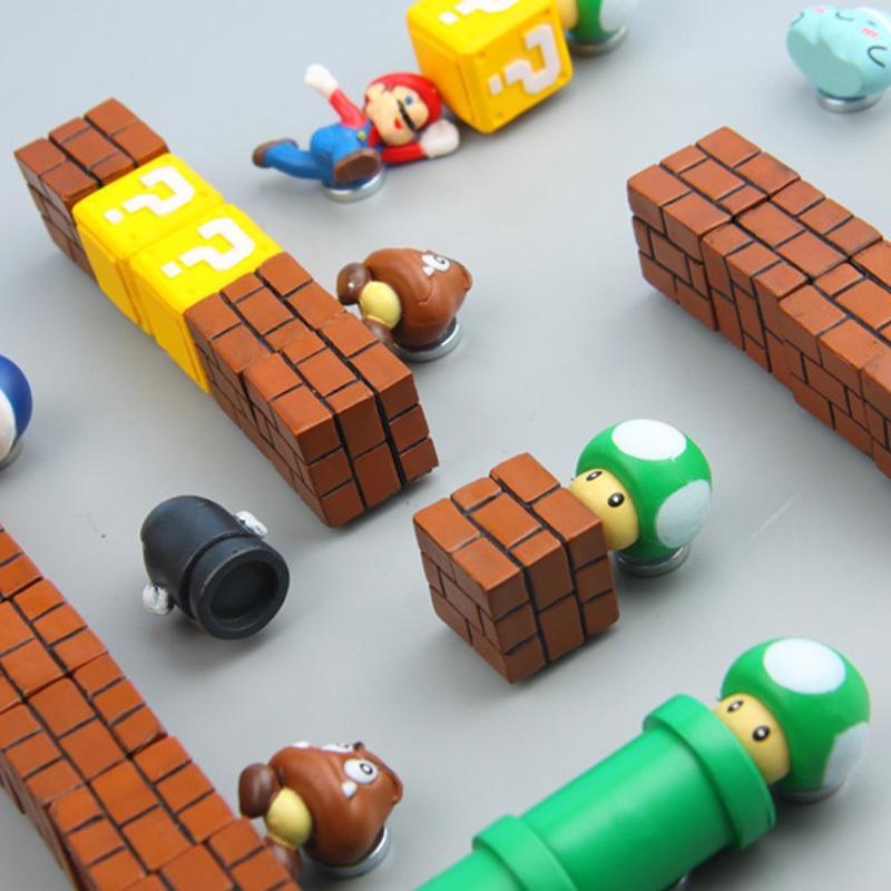63 adet 3d Süper Mario Bros. Buzdolabı Mıknatısları Buzdolabı Mesaj Sticker Komik Kız Erkek Çocuklar Çocuk Öğrenci Oyuncaklar Doğum Günü Hediyesi Q190529