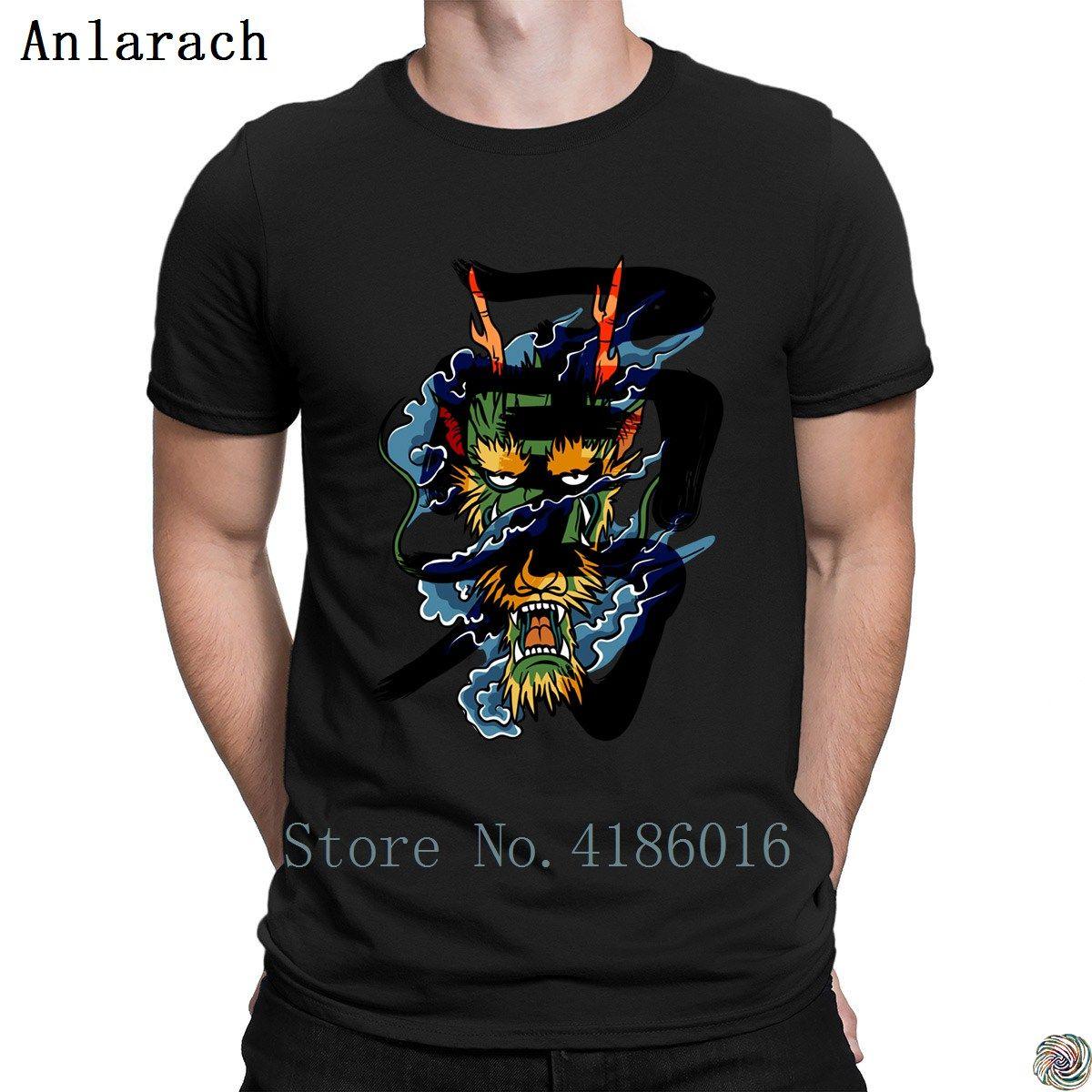 Brave Dragon T-Shirt Letters Short Sleeve HipHop Tops homme Männer-T-Shirt personalisierten Slogan Sommer Anlarach besten