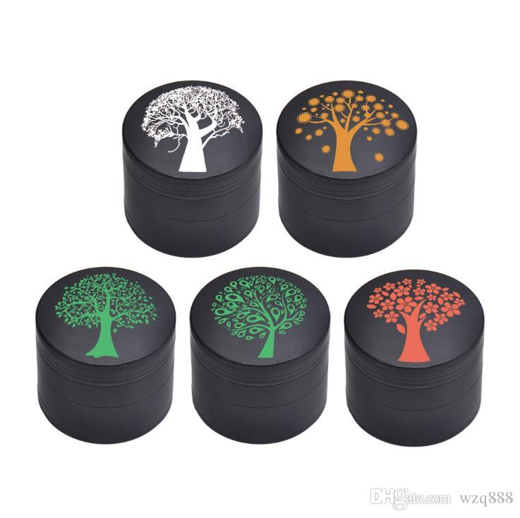 Lucky Tree Smoke Grinder Four Layer Zinc Alloy Smoke Grinder with Diameter of 50mm