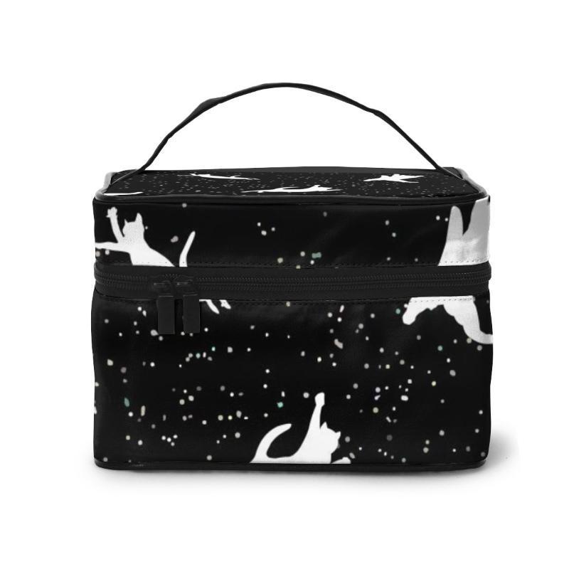 Damen-Reise-Organisation Schönheit kosmetische Make up Lagerung Lady Wash Taschen Raum Katzen-Handtasche