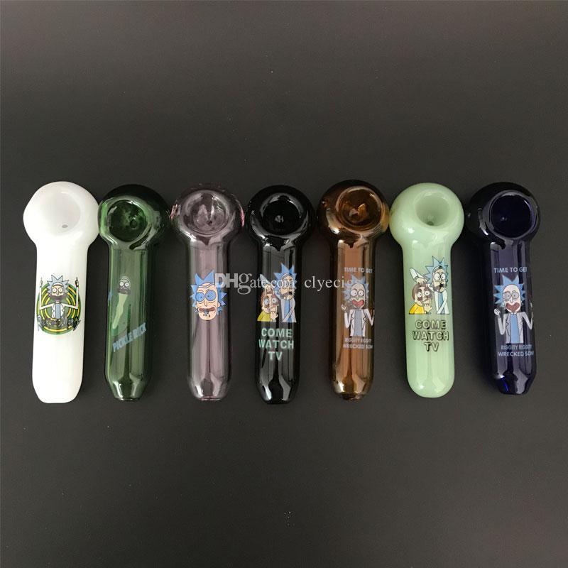 Glas Hand Pipes Gurke Handrohr Heady Glaspfeifen Pyrex Löffel Rohr Bongs Öl Nail Handrohr Thick Farben für Raucher