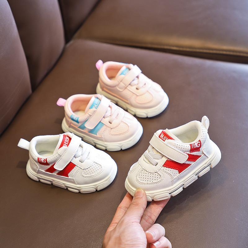 de los niños zapatos de niño zapatos del bebé del bebé inferiores suaves Casual zapatillas de deporte individual transpirable resistente al desgaste antideslizante