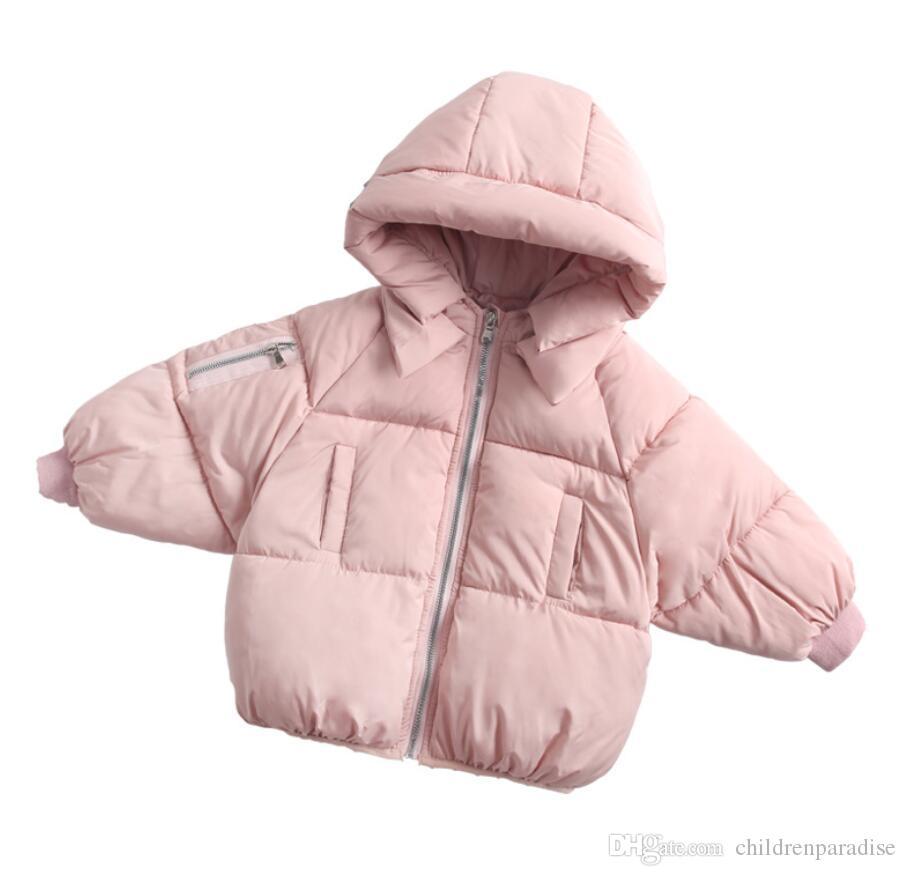 Muchachas del niño de abrigo de invierno ropa de abrigo niños parka capas gruesas de ropa infantil de los niños Niños bebé con capucha 1 3 4 5 6 años después