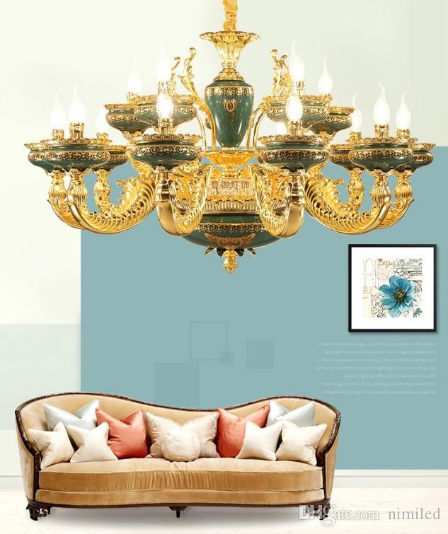 Cristal de iluminación francés de aleación de zinc Led Lámparas Sala de estar pendiente de la lámpara Led luces Comedor Lámpara colgante Accesorios LLFA