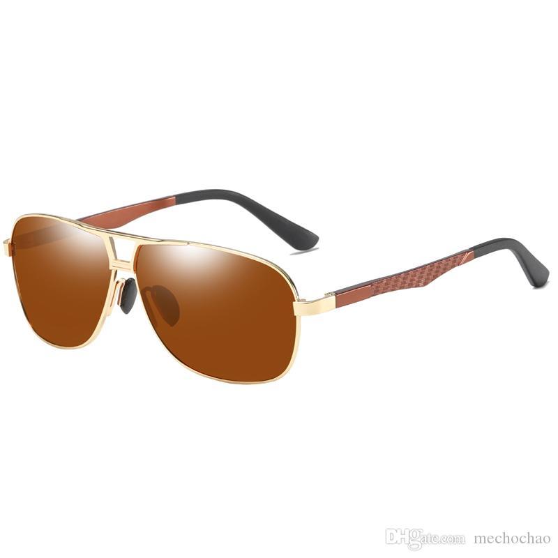 Óculos de sol polarizados dos homens high-end Designer de marca dos homens Óculos de sol de condução Europa e dos Estados Unidos negócios dos homens óculos polarizados
