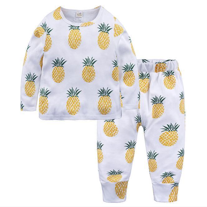 Conjuntos de pijamas para niños niños pijamas de frutas niños algodón Ropa de dormir informal para familias pijamas para niños niñas pijamas lindos