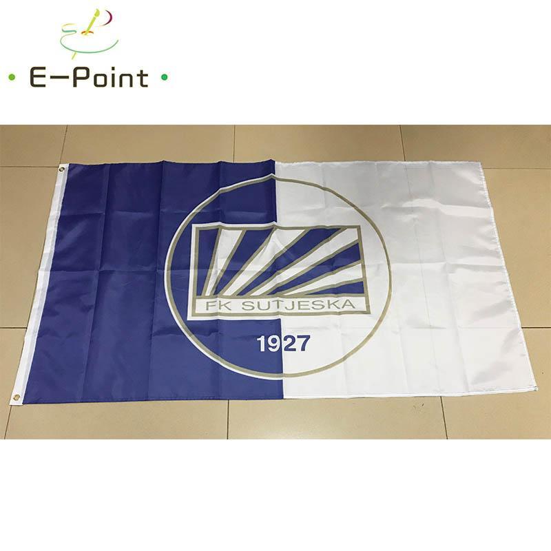 Bandiera del Montenegro FK Sutjeska Niksic 3 * 5ft (90cm * 150cm) Poliestere bandiera Banner decorazione di volare a casa giardino bandiera Festive doni