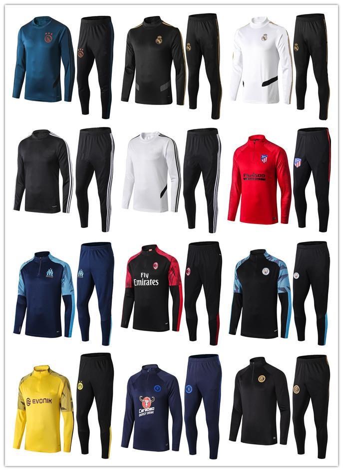 2018 Ajax futbol Ceket Eşofman 18 19 chándal Real Madrid eğitim takım elbise Futbol Jersey eğitim spor Koşu aşınma Survetement