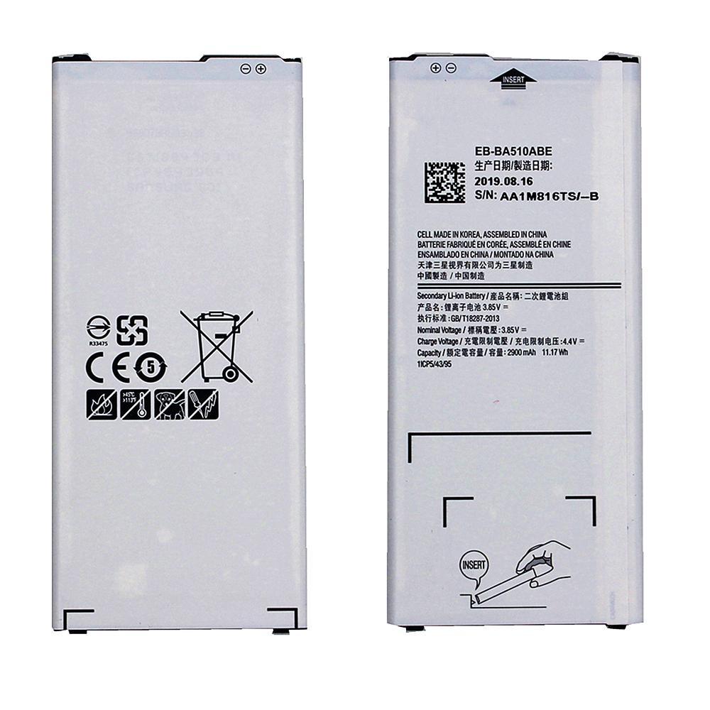 Batterie al litio per Samsung Galaxy A5 Sostituzione 2016 A510 A510F A5100 A510M A510FD A510K A510S Batteria EB-BA510ABE superiore