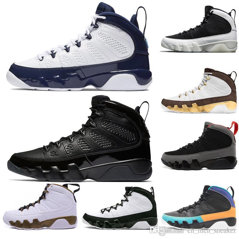 Hot New 9 9s Zapatos Sueño Se hace él UNC fregona Melo para hombre de baloncesto de los hombres LA OG Space Jam Bred Los deportes Espíritu Negro zapatillas de deporte del diseñador de tamaño 7-13