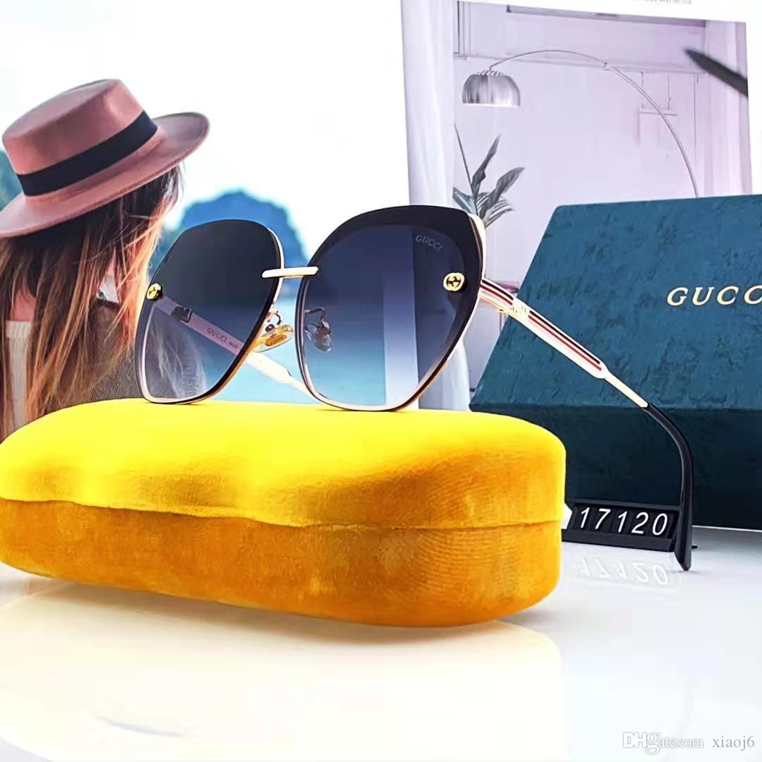 2019 New alta qualidade de luxo de design da marca mulheres óculos de sol mulheres sol óculos redondos óculos de sol Óculos de sol mujer luneta