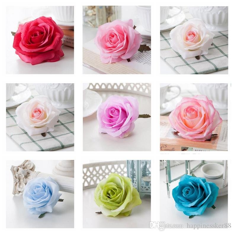 100PCS Artificial Silk Rose Heads DIY Decorative Bride Fake Flower Head For Home Wedding Birthday Party Decoration Fake Flowers
