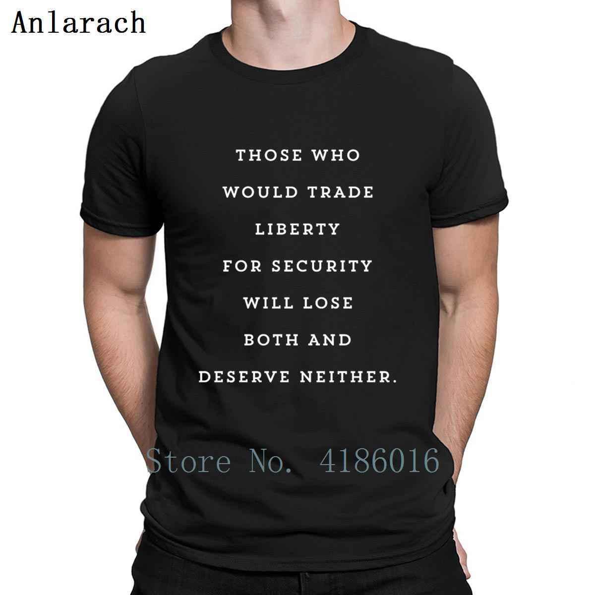 Yapma Ticaret Liberty İçin Güvenlik Özgürlükçü Tişörtlü Kısa Kollu Resimleri Yuvarlak Yaka Tasarımcı Komik Casual Slim Fit Gömlek