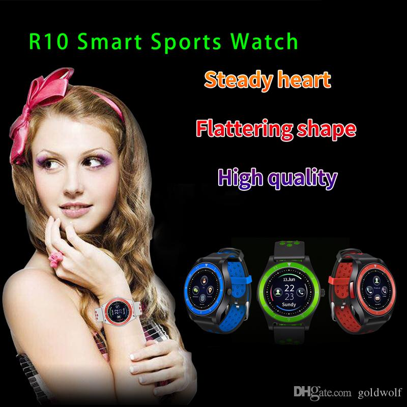 R10 Smart Sports Watch Supporto SIM Card Fotocamera Pedometro Orologio cellulare multifunzione Android Orologio in tempo reale per il fitness