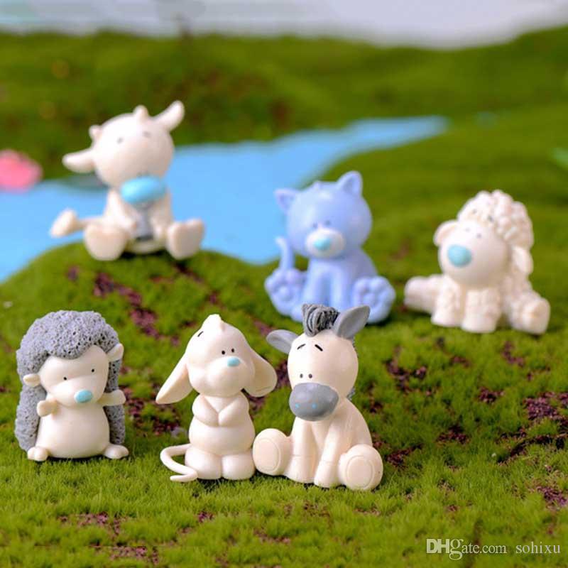 2020 Cartoon Hedgehog Seahorse Pig Cow Animal Plastic Crafts