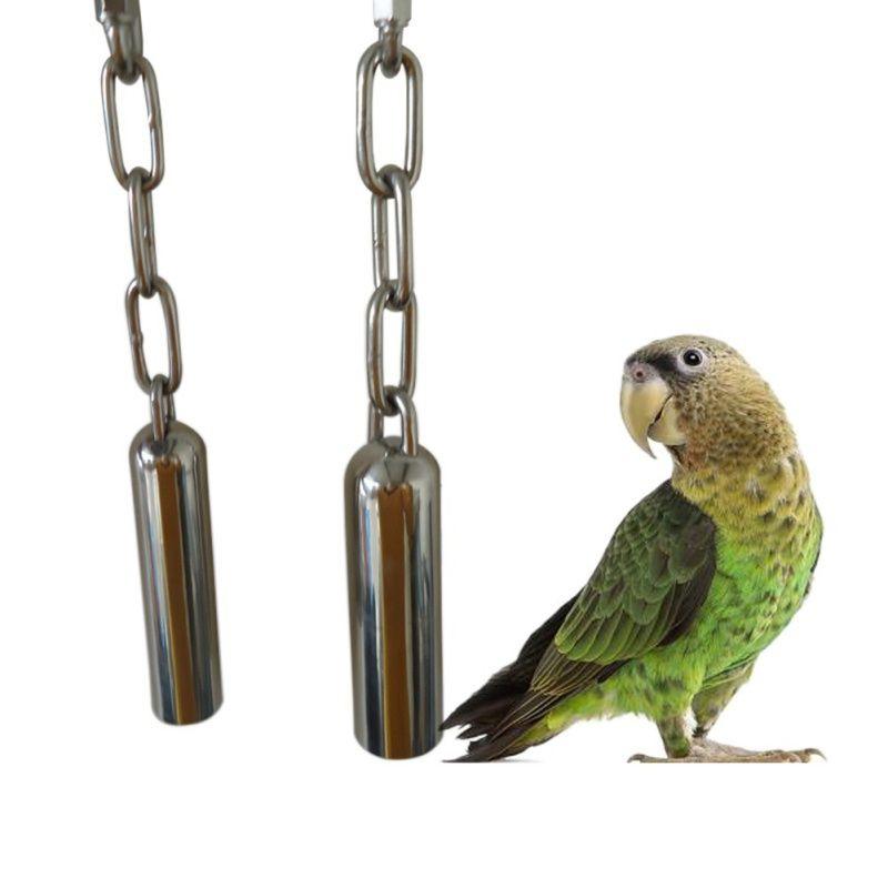 1 pcs jouet en acier inoxydable Parrot Bell a Hanging de Bell Bite Toy cage d'écureuil Parrot Oiseau Pigeon Parrot Balancez Jouets Accessoires pour animaux