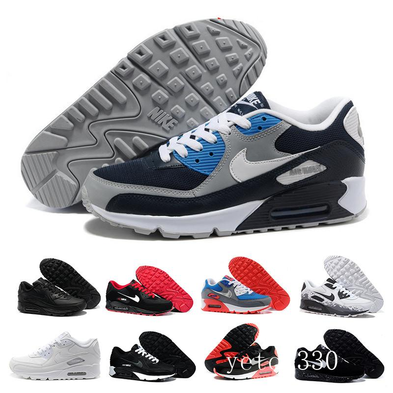 nike air max 90 90s airmax 2018 novas mulheres calçados casuais clássicos 90 mulheres e mulher Casual instrutor Air Cushion superfície respirável sapatos casuais