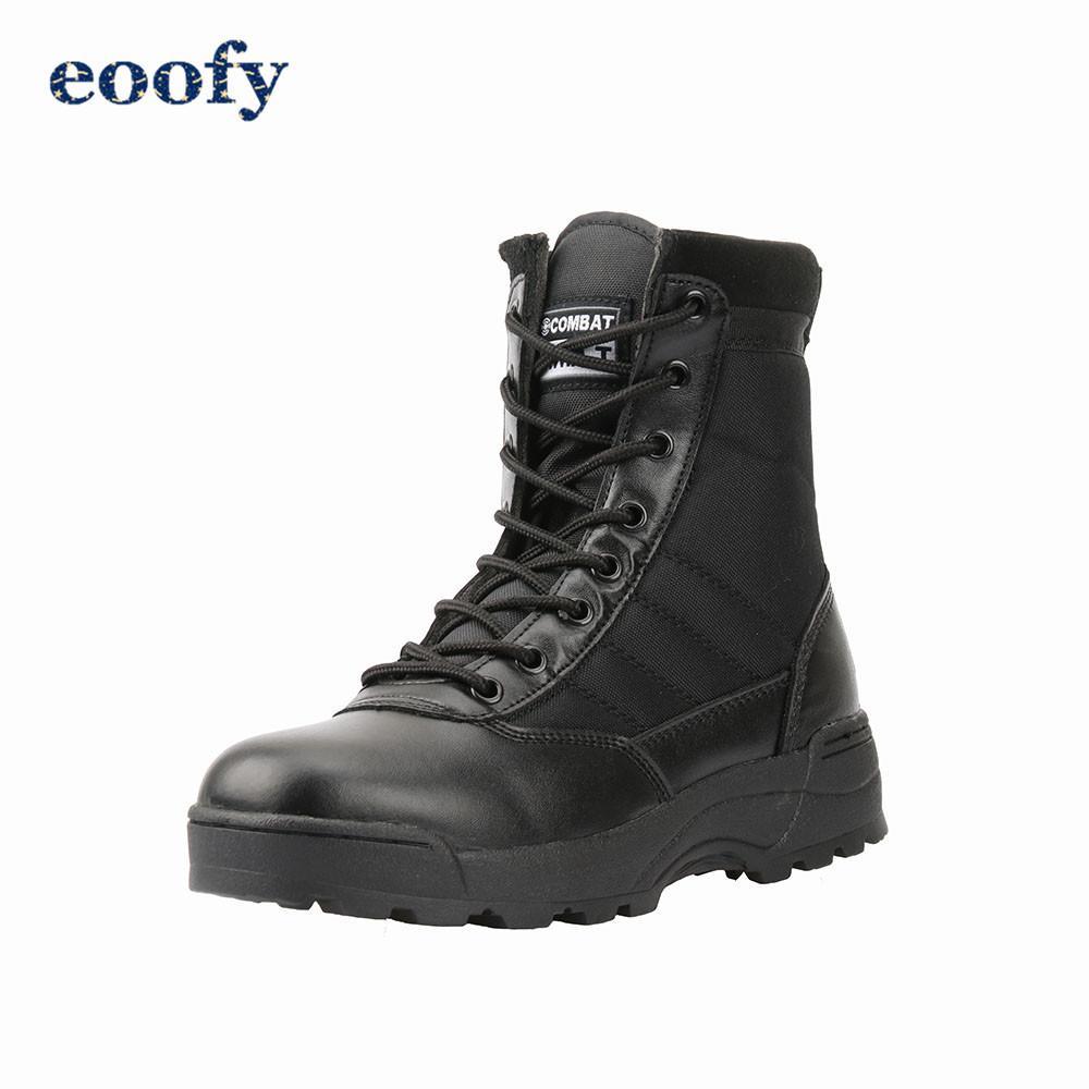 أحذية التكتيكية العسكرية أحذية الرجال سلامة العمل الجيش الأسود مكافحة أحذية الرجال أحذية الصحراء أنثى LY191217