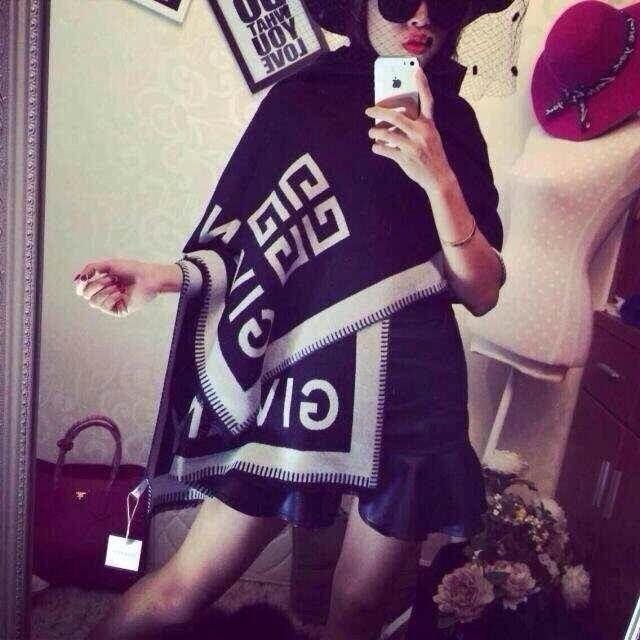 disegno Jiangyu Celebrity cotone di alta qualità sciarpa di cachemire moda donna di stampa Lettera Capita Sciarpe dello scialle 180 * 70cm