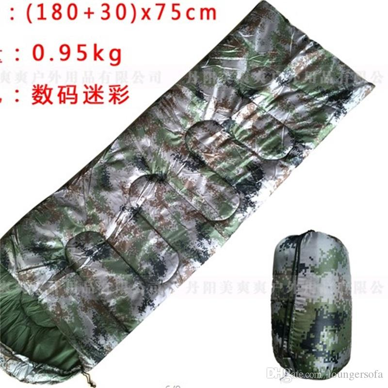 Camouflage Sleepingbags Envelope Tape Military Training Camp Printing Outdoors Travel Adult Spring Autumn Comfortable Warm 33msf1