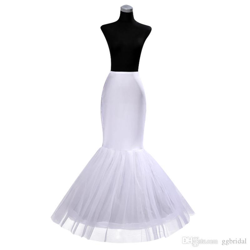 Auf Lager billig ein Reifen-Petticoat Crinoline für Meerjungfrau-Brautkleider rühmelten Meerjungfrau-Petticoat-Slip-freies Verschiffen