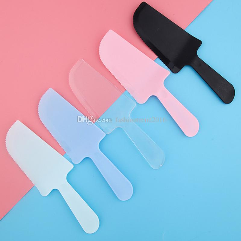 Incredible 2020 Birthday Cake Cutter Disposable Dessert Cutter Knife Plastic Funny Birthday Cards Online Benoljebrpdamsfinfo