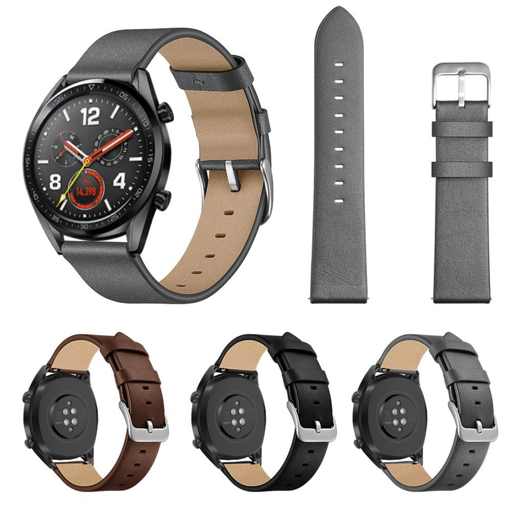 22MM Leather Watchband Men Women Fashionable Replacement Leather Watch Strap For Huawei Watch GT Honor Magic
