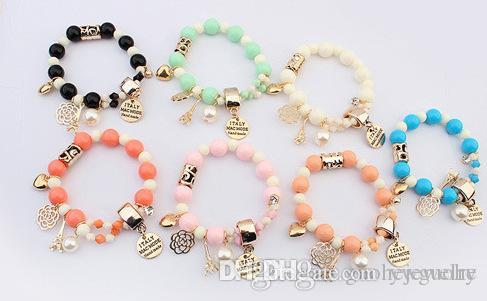 Pulseras Bracelets & Bangles Yiwu Factory Direct Our Fresh And Sweet All-match Bracelet Wholesale Korean Alphabet Tower