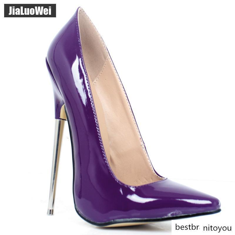 النساء مضخات 18CM الترا عالية الكعب المدببة تو مثير الوثن الخنجر الكعوب رقيقة السيدات حفل زفاف لون أحذية مخصصة