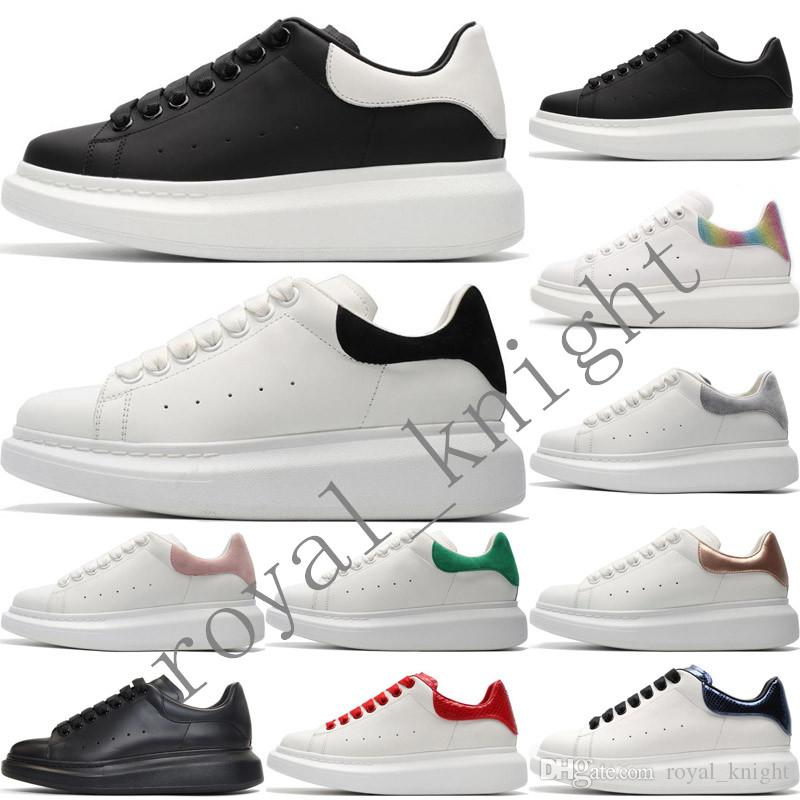 2020 MQ Veludo Branco Womens 3M reflexiva Designer Sneakers Mens Lace Up Plataforma Casual Luxury Shoes Cores sólidas Formadores Chaussures Shoe