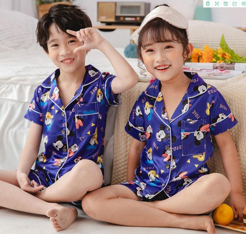 Baby Toddler Girls Boys Summer Casual Suit Nightwear Outfits Set Suit Tracksuit