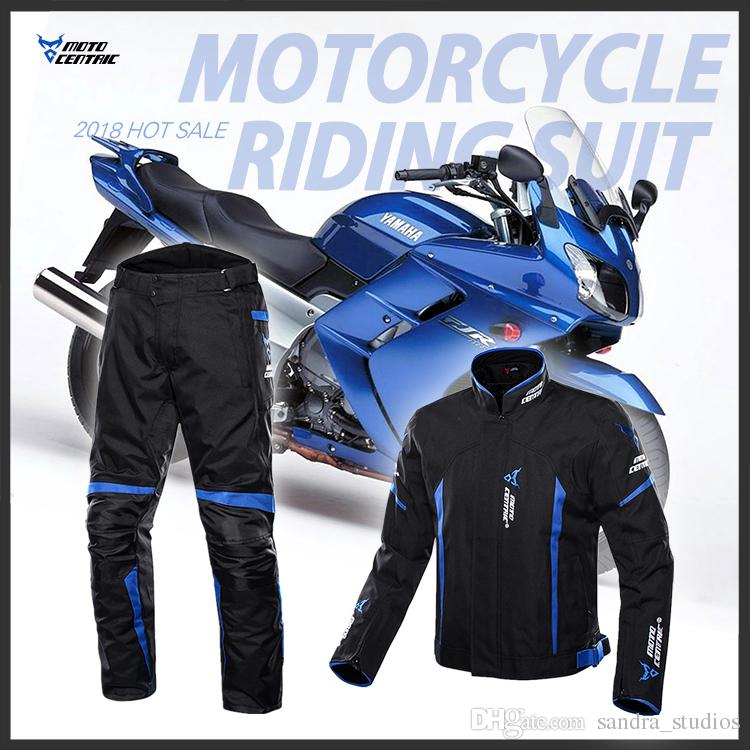 Men's motorcycle clothes racing suit four seasons can wear Waterproof with removable warm Liner riding jacket + pants