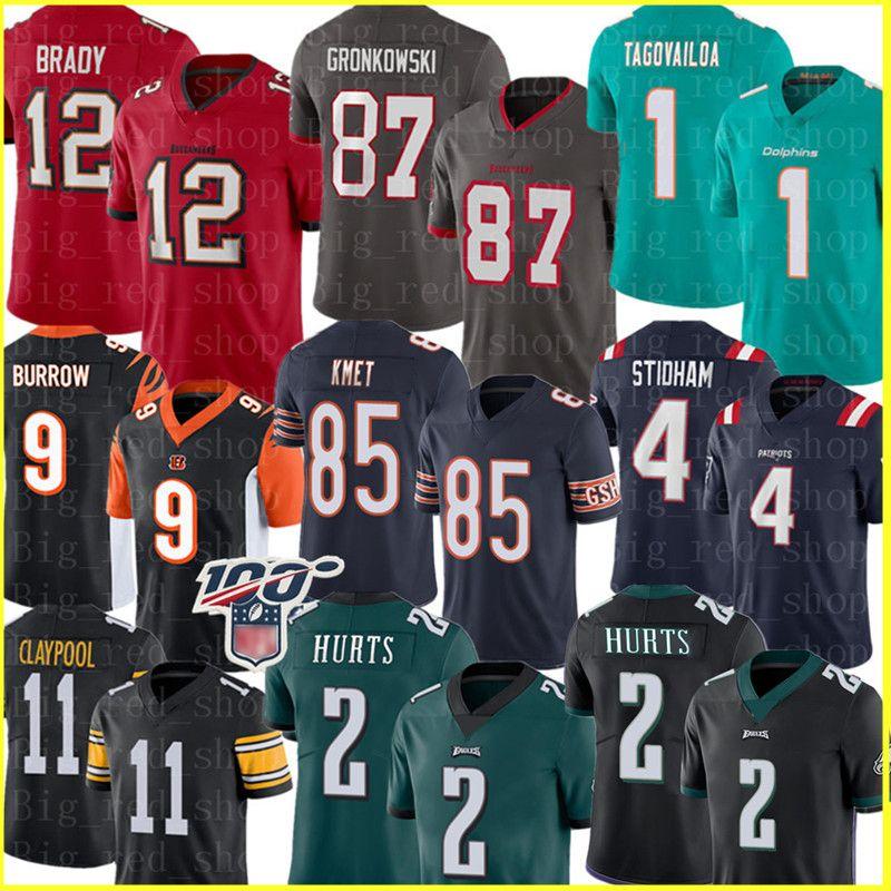 12 Tom Brady 87 Rob Gronkowski TampaBaiaBuccaneer Jersey 2 Jalen Hurts PhiladelphiaAquila Joe Cole Burrow Kmet Chase Claypool