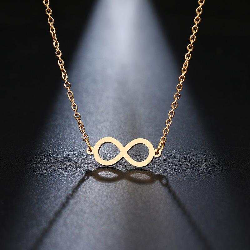 Collier en acier inoxydable pour les femmes belle Chic Infinity pendentif colliers de mode pour les femmes bijoux cadeau