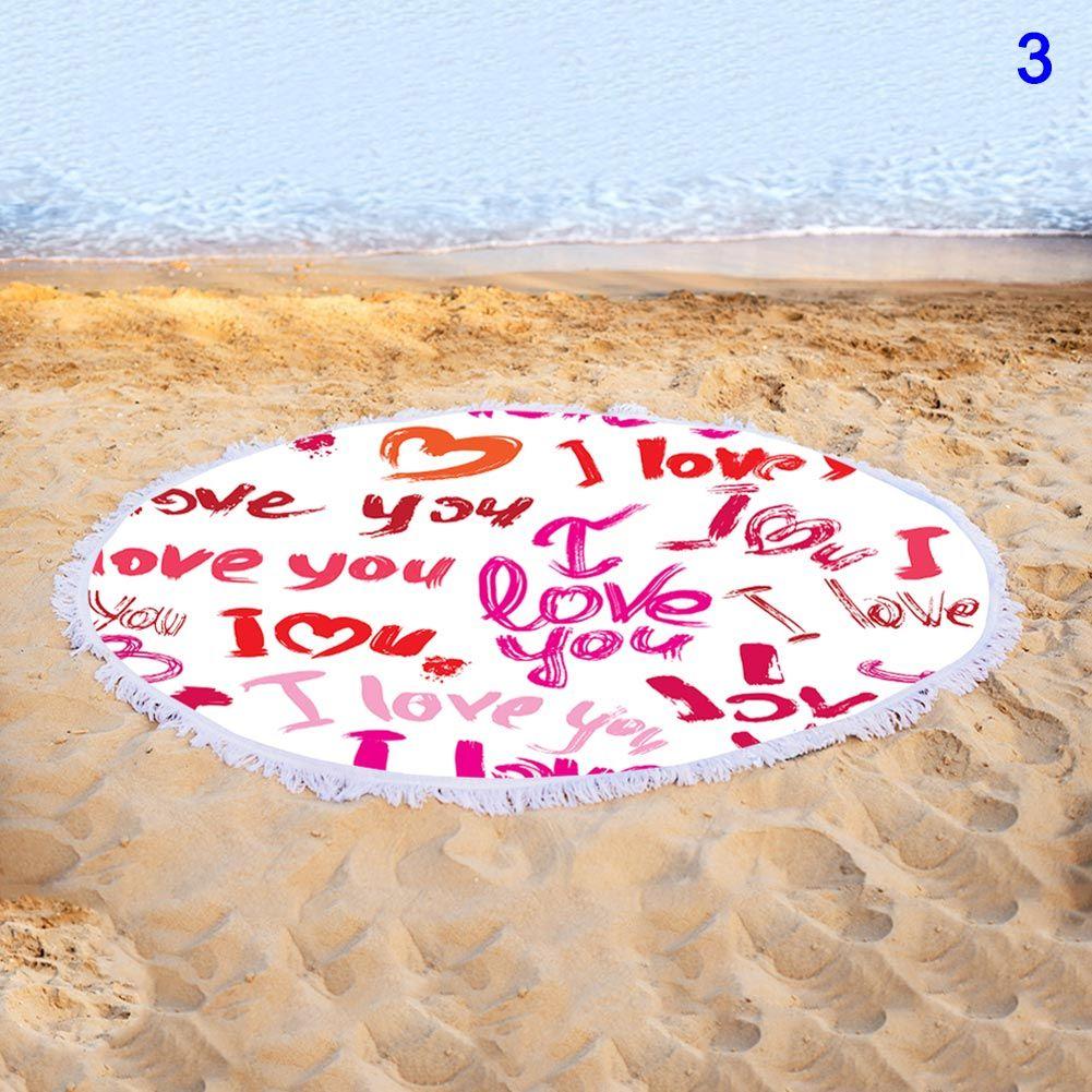Serviette de plage à imprimé floral rond à séchage rapide avec couverture à pampilles