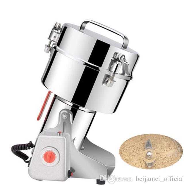 BEIJAMEI Swing Type Grinder en polvo de granos eléctricos / 2500g Grinder de alimentos secos / Máquina para hacer polvo de especias comerciales