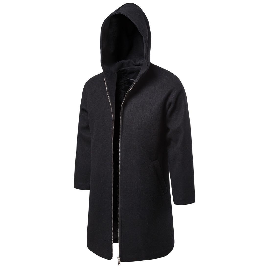 Sonbahar Kış Ortası uzunluğu Trençkot Moda Casual Katı Renk Yün Palto Kabanlar Yf11