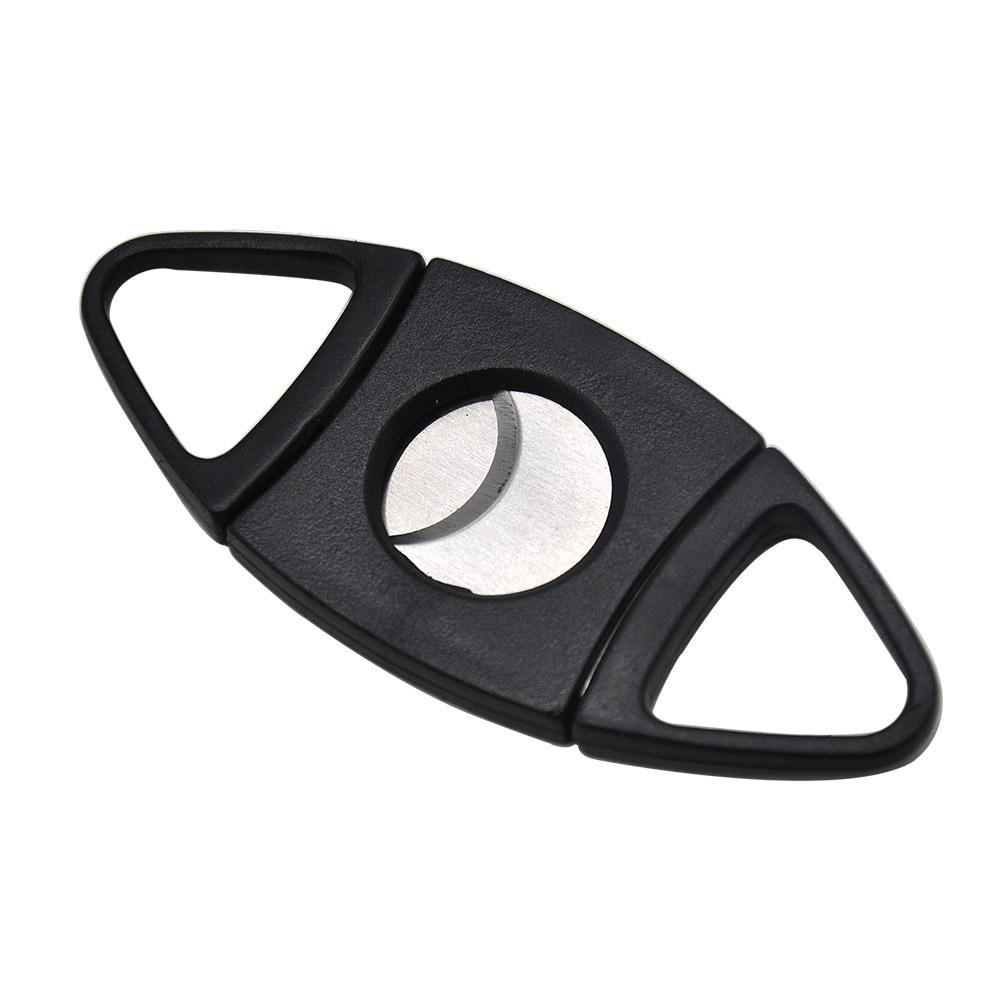 Plastic Guillotine Double Blade Cigar Cutter Max 50 Ring Stainless Steel Plated Clipper Port Cuban Cigar Cutter Knife Scissor Smoking Pipes
