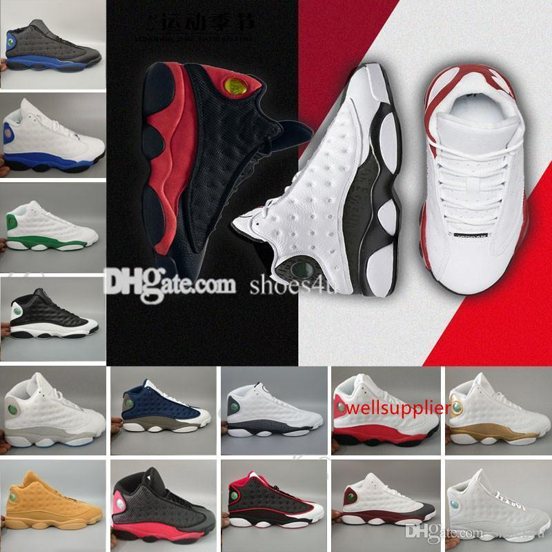 basquete masculino mulheres Novos Sapatos 13 XIII Black Cat Hiper Real Olive DMP Chicago Bred Tamanho Ele obteve a jogo Barons Sneakers 41-47