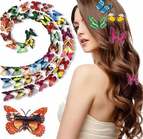 10pcs horquillas populares mariposa Clip Boutique Girls accesorios para el cabello Headwear para niños Clips para niña