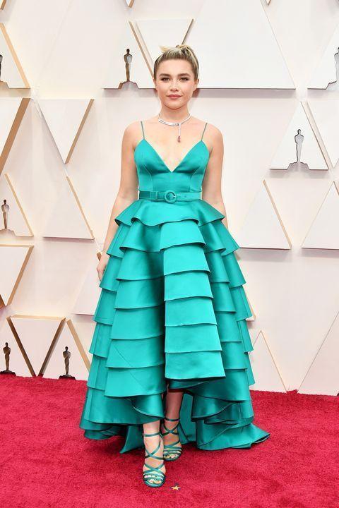 Florence Pugh A-Line Prom Vestidos Oscars verde Spaghetti Evening Vestidos Plus Size Especial Ocasião Partido Vestido de festa Red Carpet Dress